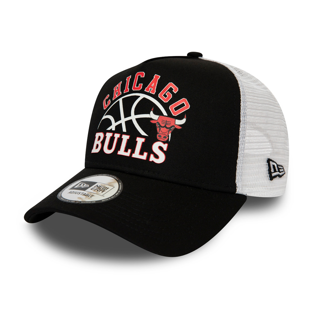 Gorra trucker Chicago Bulls Graphic, negro