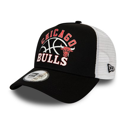Chicago Bulls Graphic Black Trucker