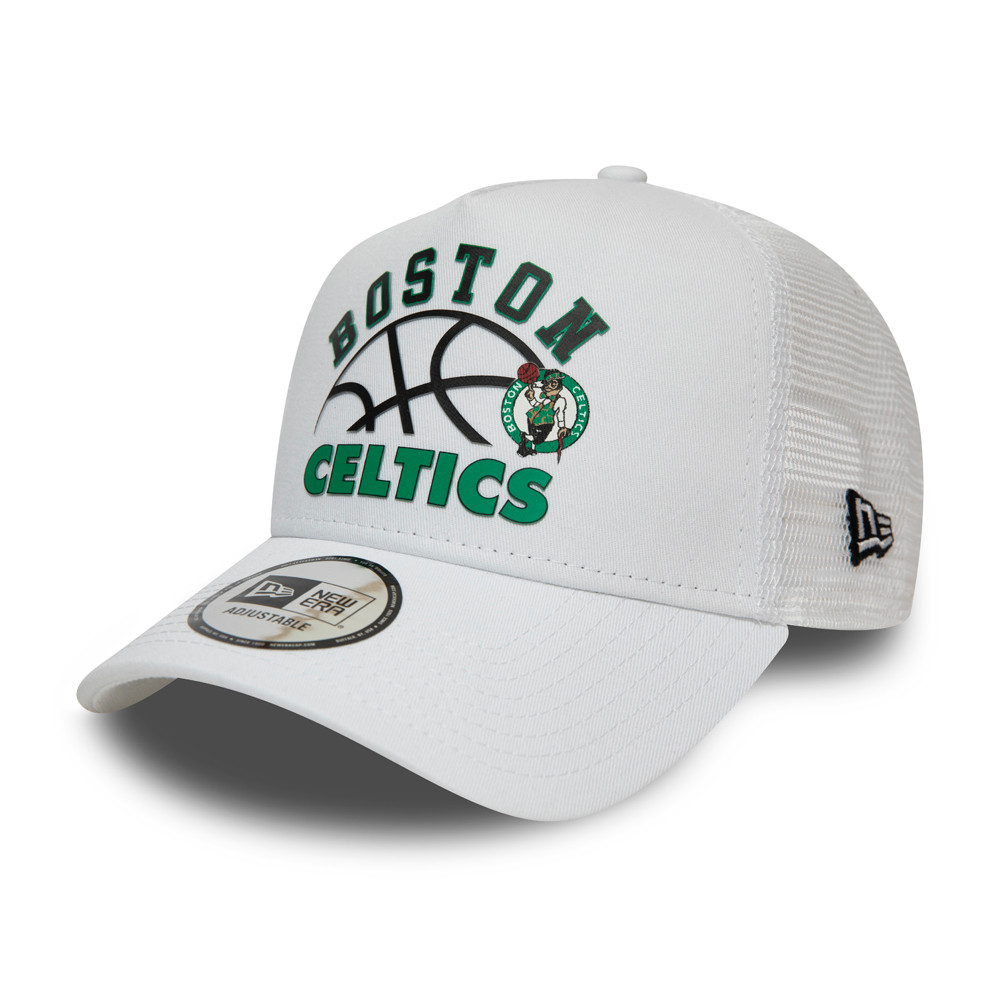 Gorra trucker Boston Celtics Graphic, blanco