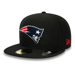 Casquette New England Patriots Hex Tech 59FIFTY noire