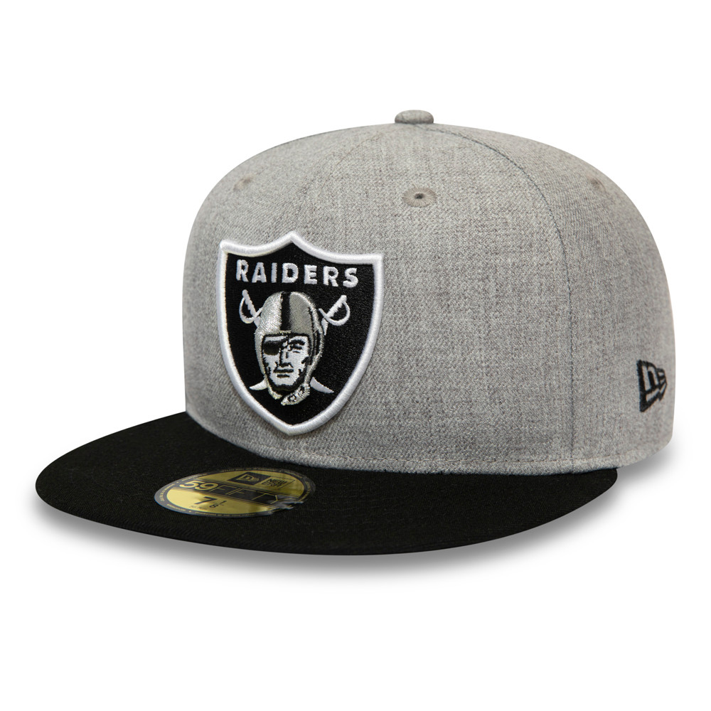 Casquette Las Vegas Raiders Heather Essential 59FIFTY gris