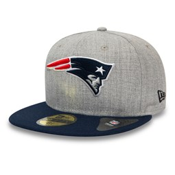 New England Patriots Heather Essential Grey 59FIFTY Cap