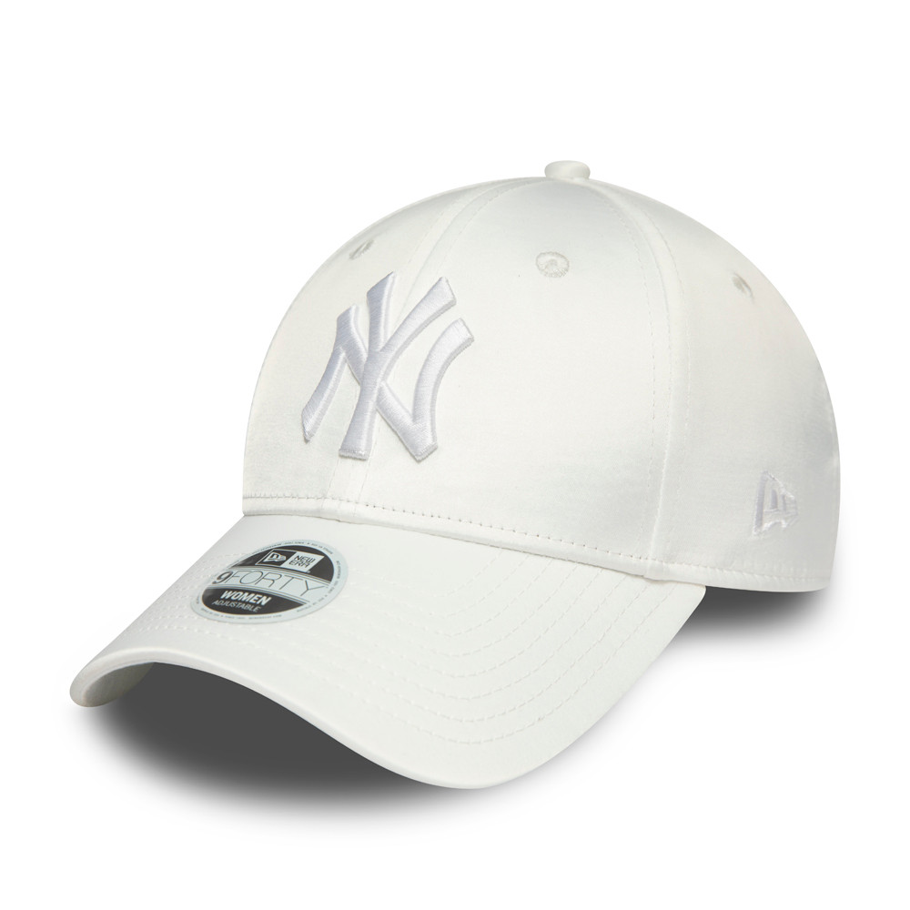 Cappellino New York Yankees Satin 9FORTY bianco donna