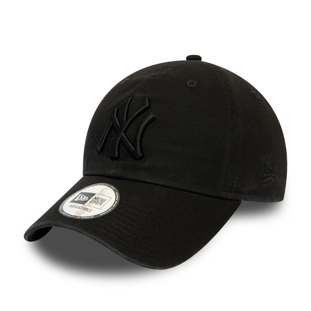 New York Yankees Washed Casual Classic monocromatico nero