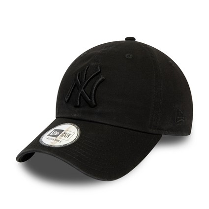New York Yankees Washed All Black Casual Classic