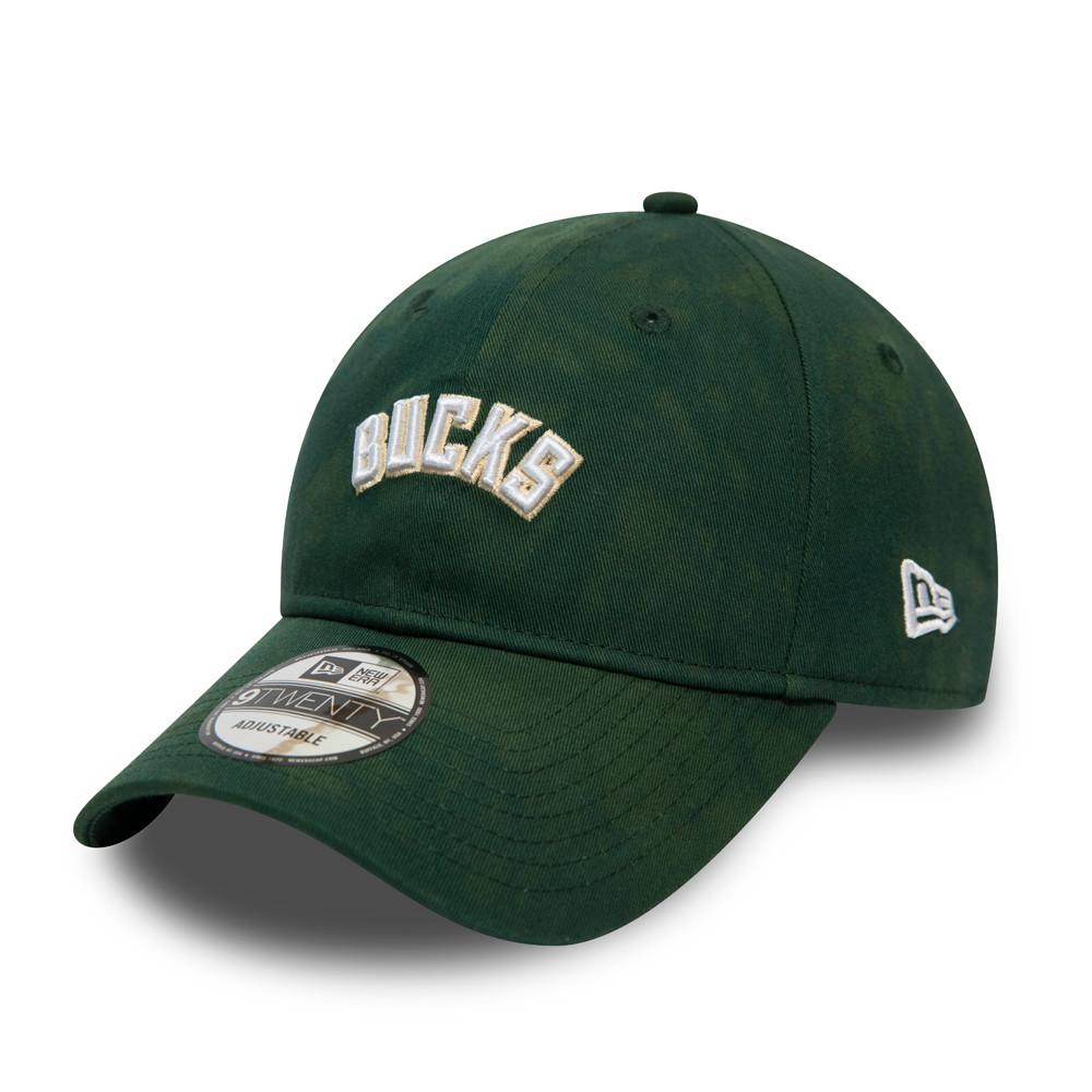 Cappellino 9TWENTY Tie Dye  Milwaukee Bucks verde