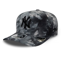 9FIFTY – New York Yankees – Batik-Stretch-Kappe in Grau mit Clipverschluss​​​​​​​