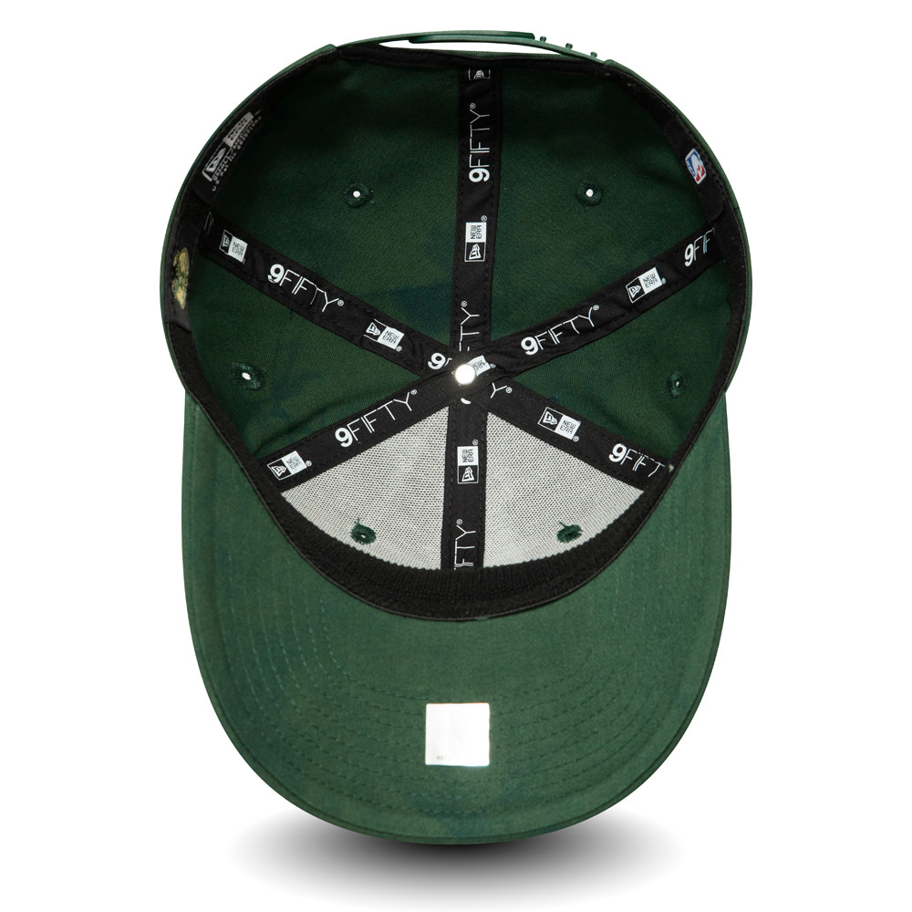 9FIFTY– Milwaukee Bucks – Batik-Stretch-Kappe in Grün mit Clipverschluss