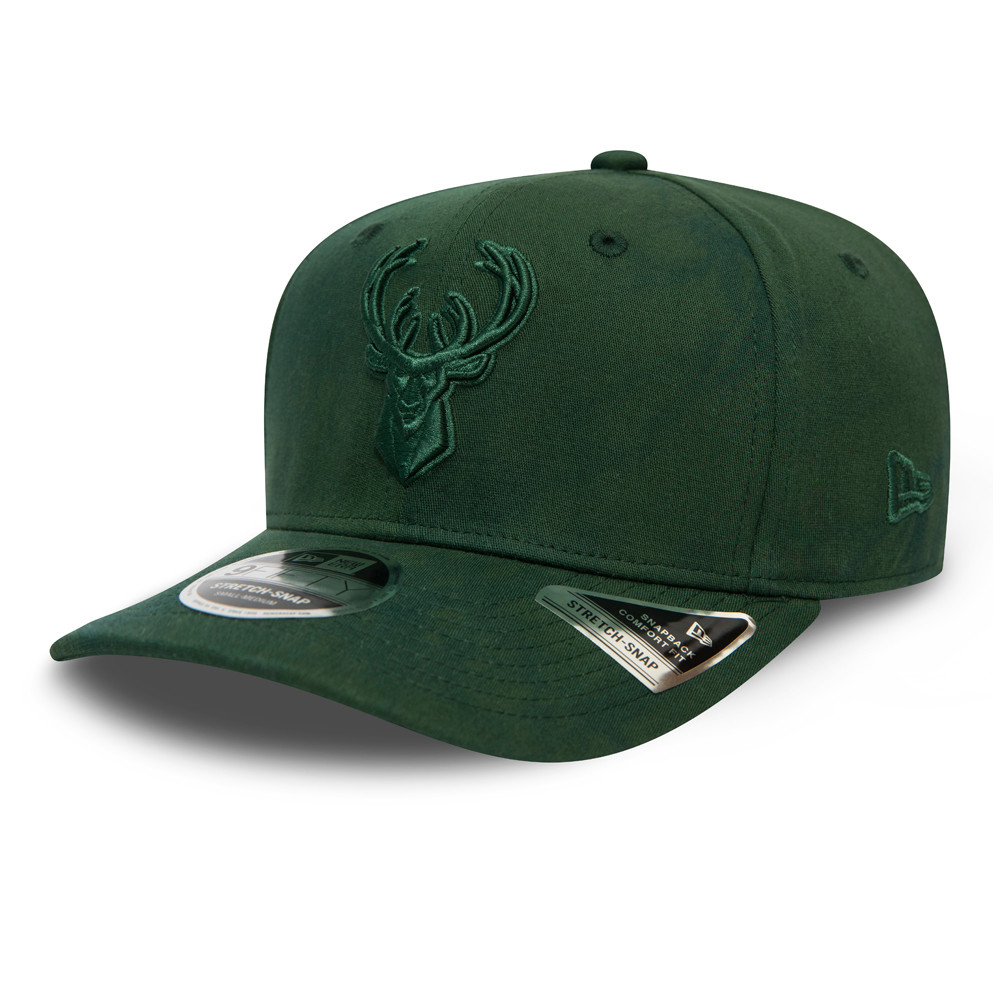 9FIFTY – Milwaukee Bucks – Batik-Stretch-Kappe in Grün mit Clipverschluss