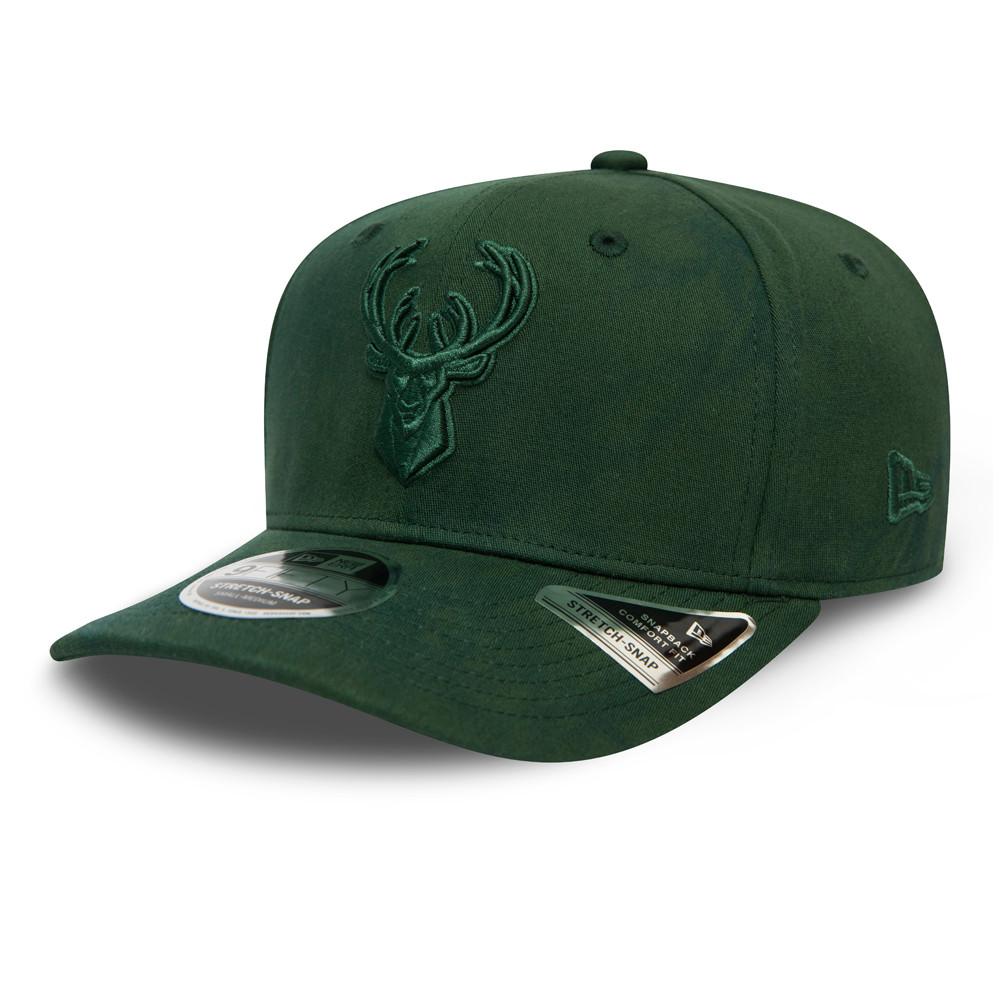 Casquette 9FIFTY Tie Dye avec languette strech des Bucks de Milwaukee, verte