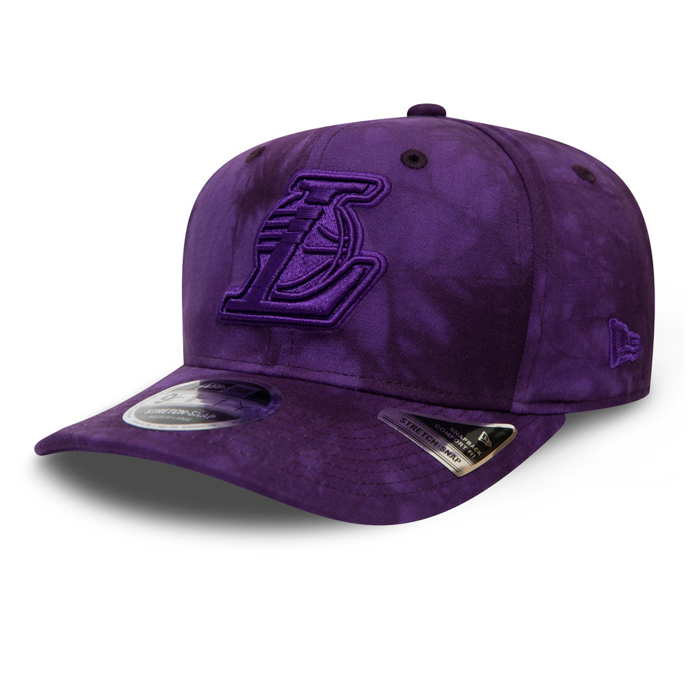 Cappellino 9FIFTY Stretch Snap Tie Dye dei Los Angeles Lakers viola