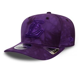 9FIFTY – Los Angeles Lakers – Batik-Stretch-Kappe in Lila mit Clipverschluss