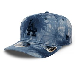 9FIFTY – Los Angeles Dodgers – Batik-Stretch-Kappe in Blau mit Clipverschluss