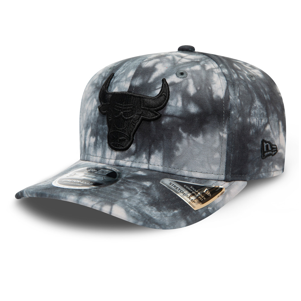 9FIFTY – Chicago Bulls – Batik-Stretch-Kappe in Grau mit Clipverschluss​​​​​​​