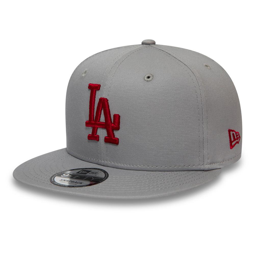 Casquette9FIFTY desLos Angeles Dodgers grise avec logo rouge
