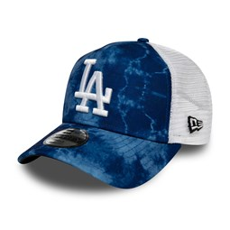 Los Angeles Dodgers – A-Frame-Kinder-Truckerkappe in Batikoptik in Blau