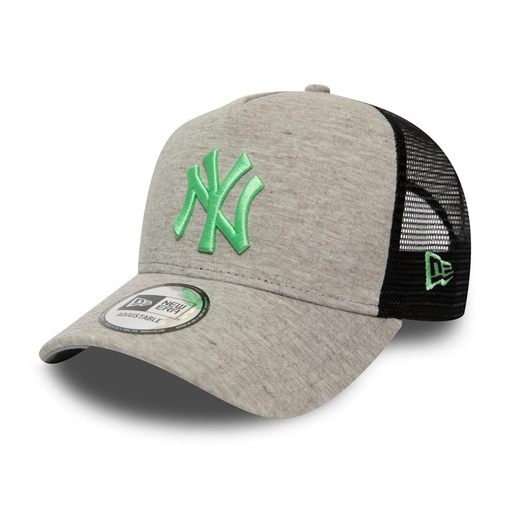 Essential Jersey Trucker A-Frame  logo vert New York Yankees, gris