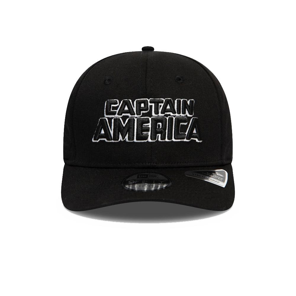 Gorra Captain America Wordmark 9FIFTY niño, negro