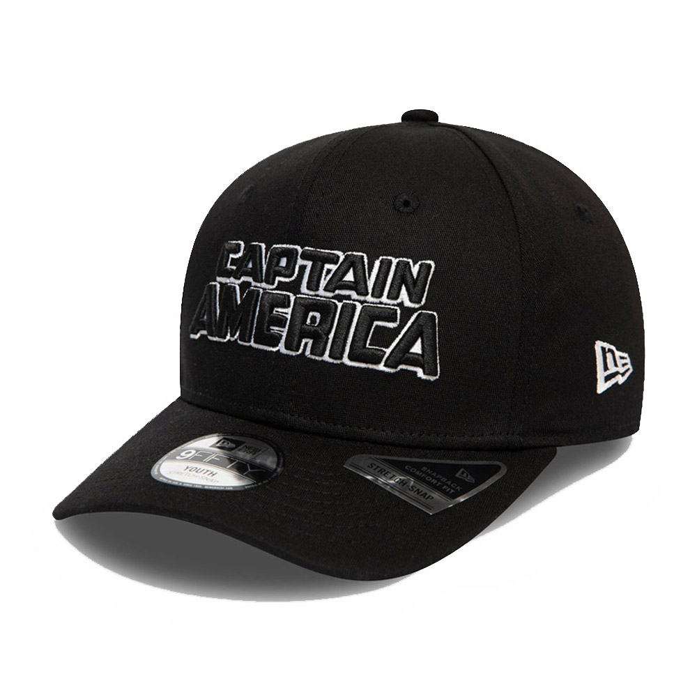 Captain America Wordmark Kids Black 9FIFTY Cap