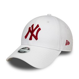New York Yankees Womens League Essential Red Logo White 9FORTY Cap