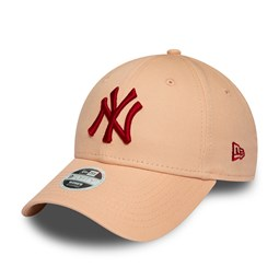 Casquette 9FORTY des New York Yankees Womens League Essential rose, logo rouge