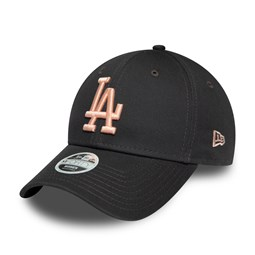 Los Angeles Dodgers Womens League Essential Pink Logo Black 9FORTY Cap
