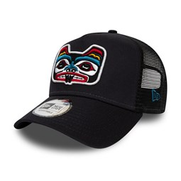 New Era Bear Tattoo A-Frame Trucker blu navy