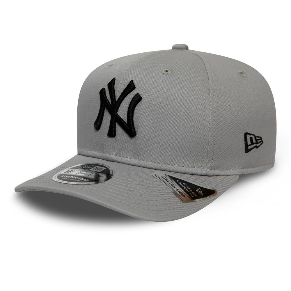 Casquette9FIFTY desNew York Yankees League Essential grise,stretch avec languette de réglage