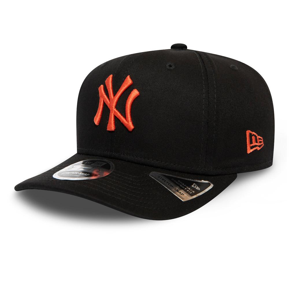 Casquette9FIFTY desNew York Yankees League Essential noire,stretch avec languette de réglage