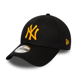 Casquette New York Yankees League Essential 39THIRTY à logo jaune, noir