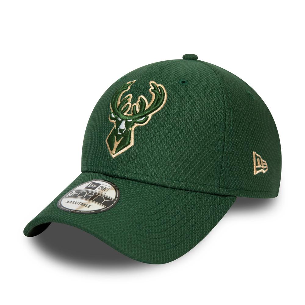 Gorra Milwaukee Bucks Diamond Era Essential 9FORTY verde