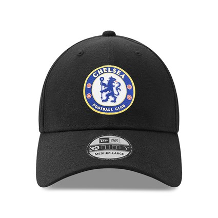 Chelsea FC Crest Wordmark Black 39THIRTY Cap