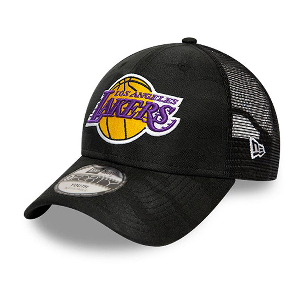 Casquette Los Angeles Lakers Seasonal The League 9FORTY, camouflage, enfant, noir
