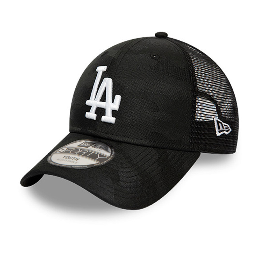 Cappellino Los Angeles Dodgers Seasonal The League 9FORTY mimetico nero bambino