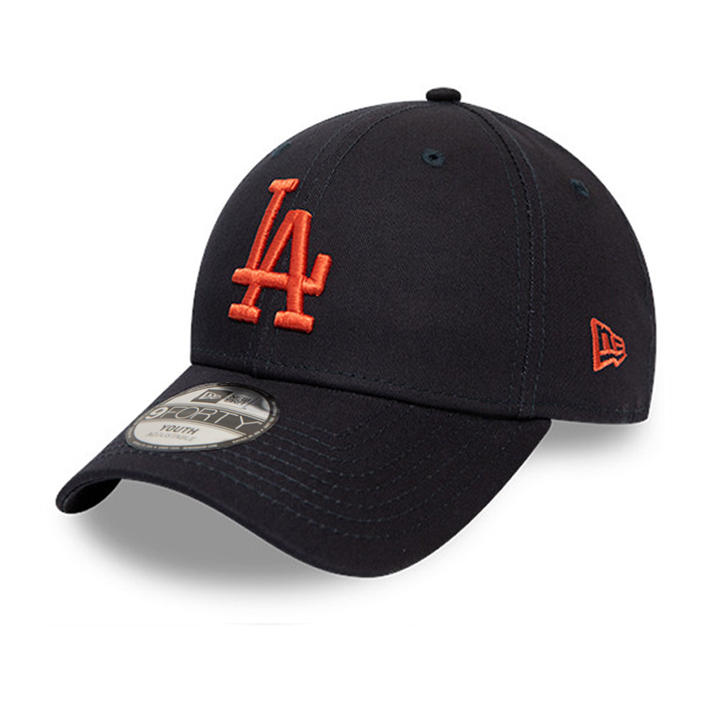 Casquette 9FORTY des Los Angeles Dodgers League Essentialorange avec logo noir, pour enfant
