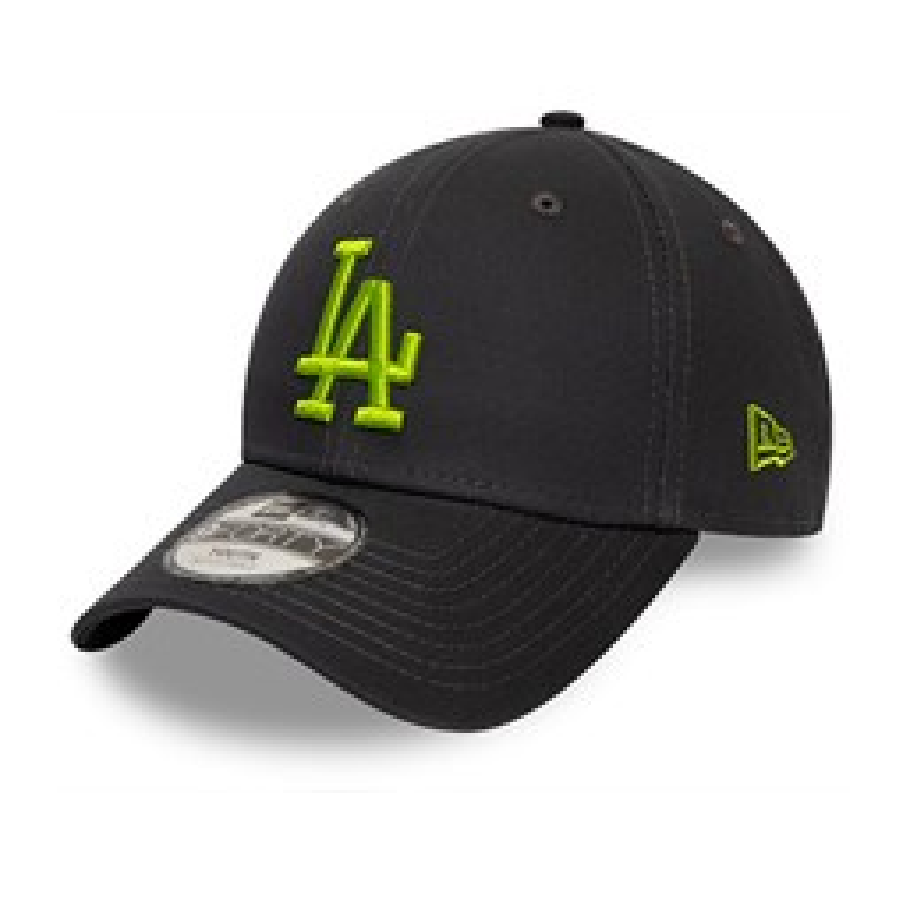 Casquette 9FORTY des Los Angeles Dodgers League Essentialverte avec logo noir, pour enfant