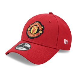 Casquette 9FORTY Side Patch Manchester United, rouge