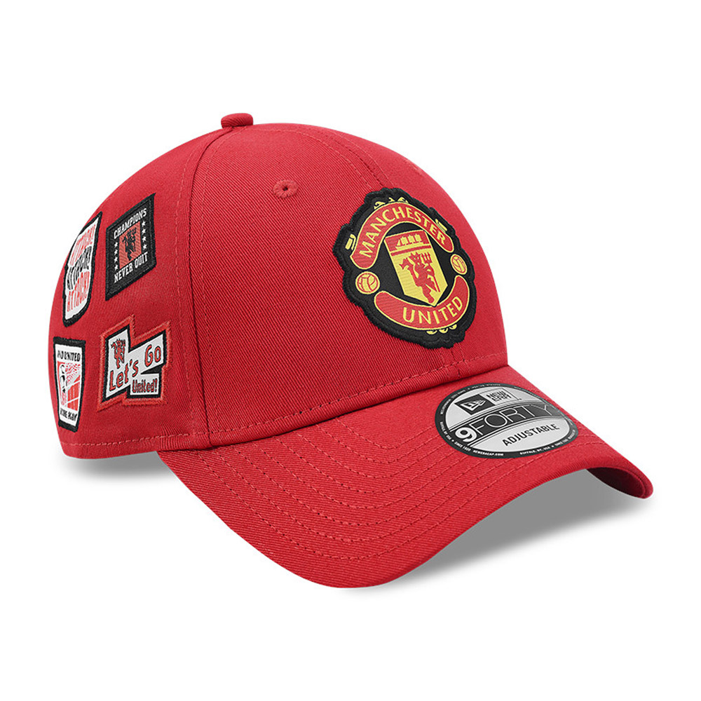 Cappellino 9FORTY Side Patch Manchester United rosso