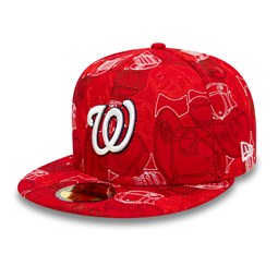 Cappellino Washington Nationals 100 Year Cap Chaos 59FIFTY