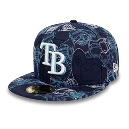 Cappellino Tampa Bay Rays 100 Year Cap Chaos 59FIFTY