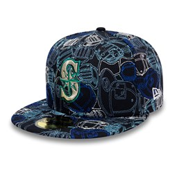 Cappellino Seattle Mariners 100 Year Cap Chaos 59FIFTY