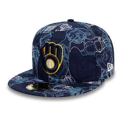 Cappellino 59FIFTY 100 Year Cap Chaos dei Milwaukee Brewers