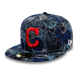 Cleveland Indians 100 Year Cap Chaos 59FIFTY Cap