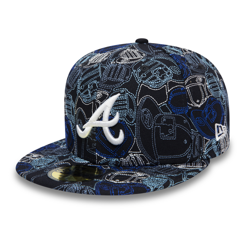 Cappellino 59FIFTY 100 Year Cap Chaos degli Atlanta Braves