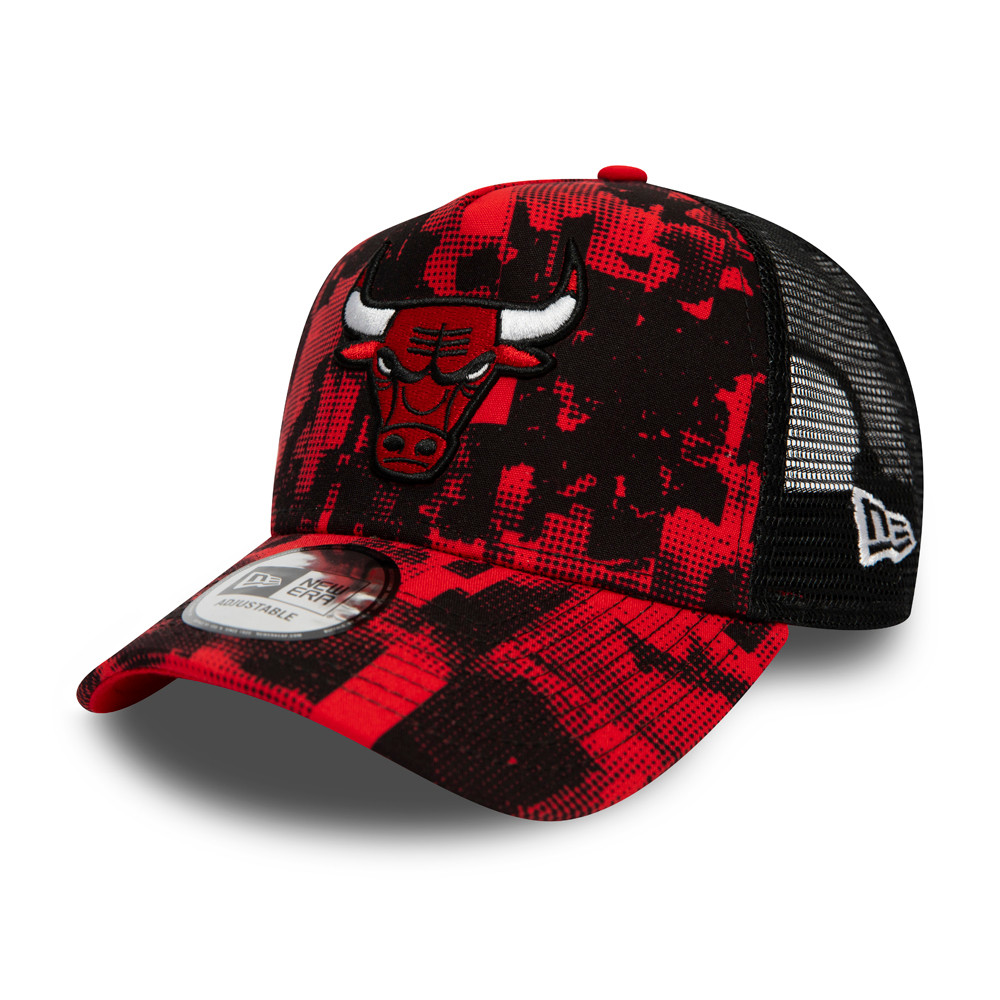 Chicago Bulls Error Print A-Frame Trucker