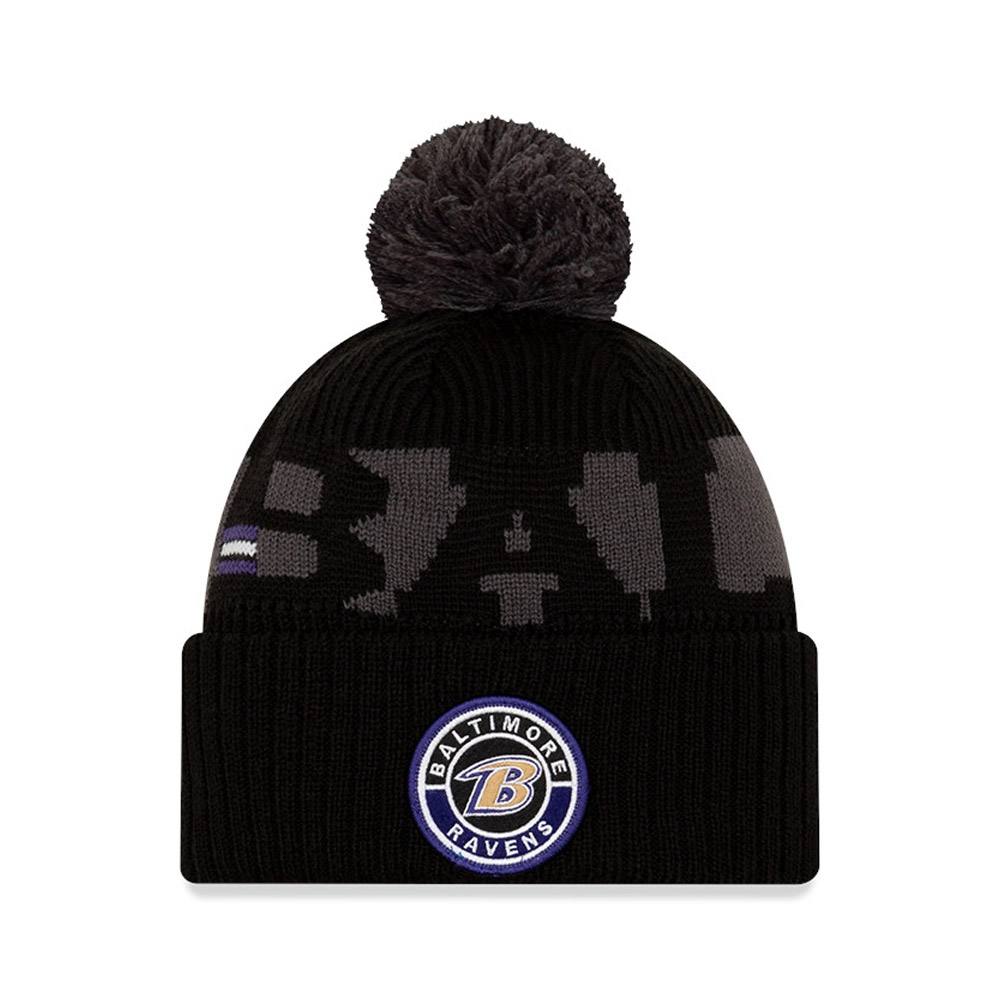 Gorro de punto Baltimore Ravens On Field, niño, negro
