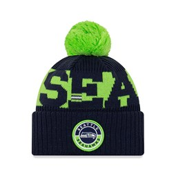 Gorro de punto Seattle Seahawks On Field, niño, azul marino