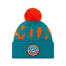 Miami Dolphins On Field Blue Beanie Hat