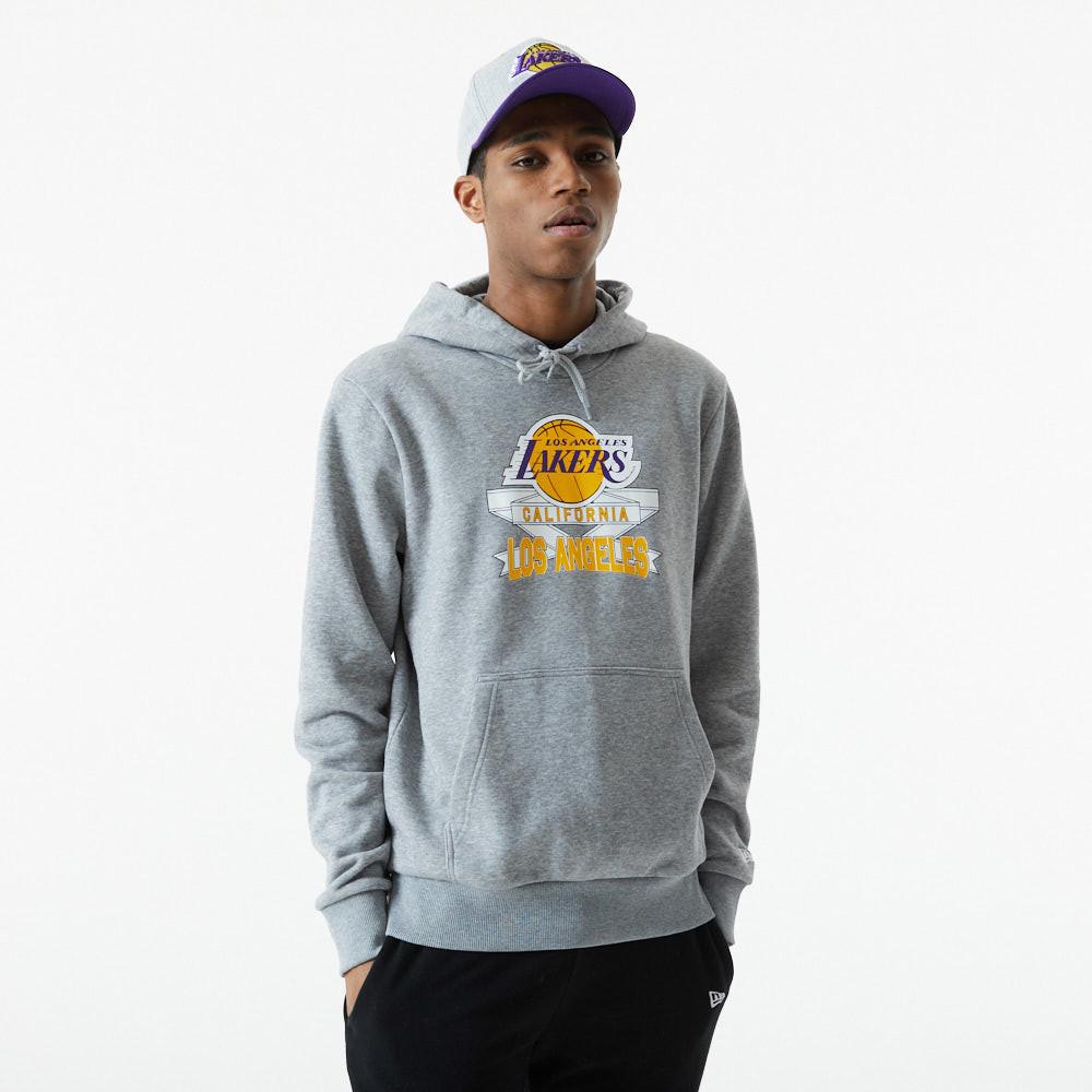 Felpa con cappuccio Graphic LA Lakers grigia