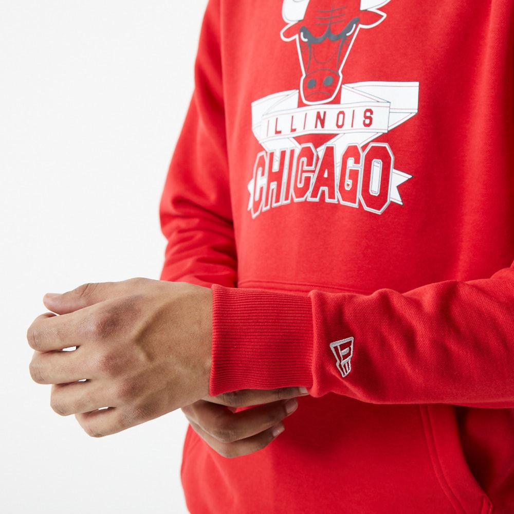 Felpa con cappuccio Chicago Bulls Graphic rossa